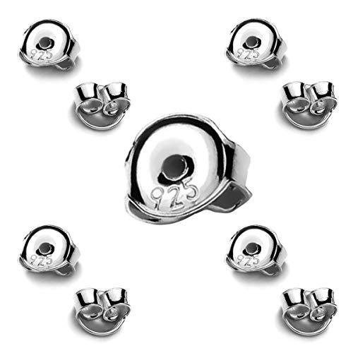 My-Bead 5 paia chiusure per orecchini 4,5mm in argento 925 senza nichel alta qualità da gioielliere