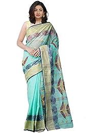 Unnati Silks Cotton Saree Without Blouse Piece(Unm31919_Green_Free Size)
