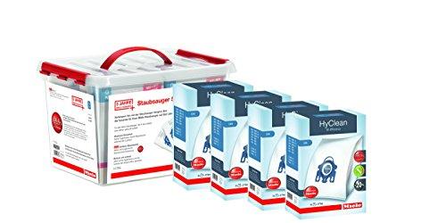 Miele Box 4 Boîtes de Sacs Aspirateurs HyClean 3D GN + Extension de Garantie 3 ans