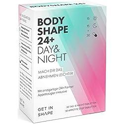 BODYSHAPE 24 PLUS - 24h Fatburner & Appetitzügler in einem. Abnehmen und Fett verbrennen mit natürlichen Inhaltsstoffen. Speziell für Frauen!