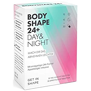 BODYSHAPE 24 PLUS Tabletten – natürliche Unterstützung beim Abnehmen (Grüner Tee, Glucomannan & Co). Laborgeprüft von Get In Shape