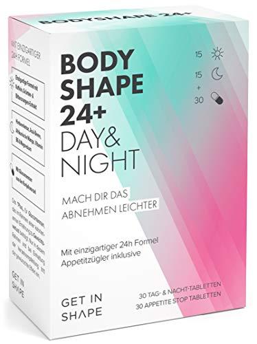BODYSHAPE 24 PLUS – 24h Fatburner & Appetitzügler in einem. Abnehmen und Fett verbrennen mit natürlichen Inhaltsstoffen. Speziell für Frauen!