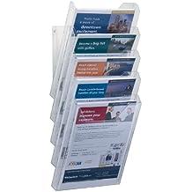 Durable 8586/19 - Set de cajas archivadoras/revisteros de pared A4 XL (5 compartimentos), color transparente