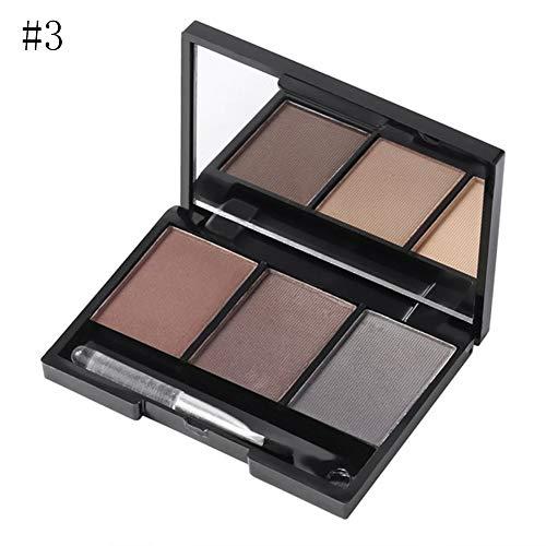 clifcragrocl Augenbrauenpuder,Augenbrauen Farben,3 Farben Augenbraue Pulver Palette Kosmetik Makeup...