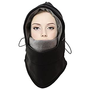 JTTVO Tactical Balaclava Hood Thermal Warm Fleece Veil Wind Proof Combination of Designed Neck Warmers Face Mask and Hat for Snowboard Swat Ski Motorcycle Cycling Outdoor Winter Sports by JTTVO