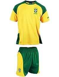 Maillot + short - BRESIL - Equipe de football Brasil - Selecao - Collection officielle - Taille enfant