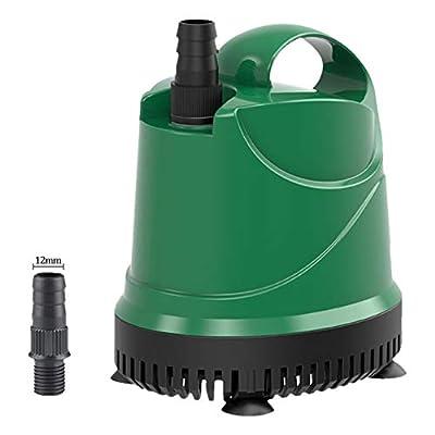 Jiasj Pompe Submersible, Fontaine Pompes avec Poignée Portable Convient à Pompage de l'eau Propre/Sale, Étang, Aquarium