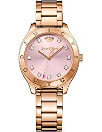 Juicy Couture Womans sierra reloj rosa tono de oro 1901622