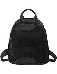 Tomtopp Korean Women Corduroy Backpack School Bags Girls Shoulder Bag Small Bookbag