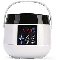 Réchauffeur de cire électrique professionnel pour appareil de chauffage à la cire pour réchaud à épilation avec température réglable et contenant intégré de contrôle de sécurité thermique de 500 ml