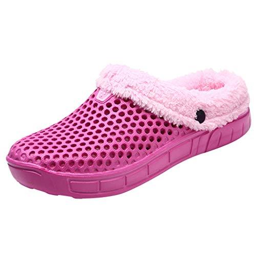 ✿ Vovotrade ✿ Pantofole per Coppia Uomo Inverno casa Calde Scarpe Antiscivolo Donna Mocassino per Pavimenti Interni in Velluto