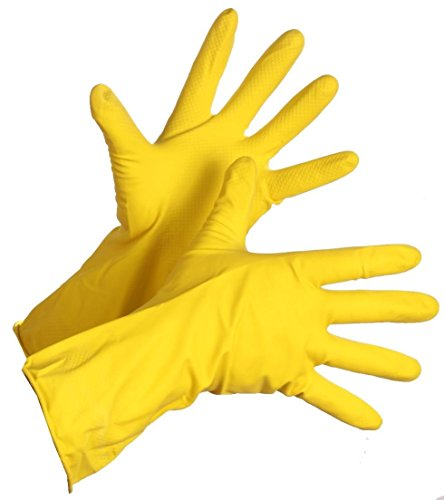 Reusable Rubber Hand Gloves, Stretchable Gloves for Washing Cleaning Kitchen Garden