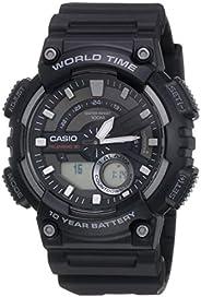 Casio Digital Men's Dial Silicone Band Watch - AEQ-110W-1