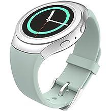 MoKo Gear S2 Watch Correa Reemplaza Deportiva de Silicona Suave para Samsung Galaxy Gear S2 SM-R720 / SM-R730 Smart Watch - Turquesa (No se Ajuete a Gear S2 Classic SM-R732)