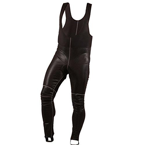 sr0046STANTEKS Rad bretelle con piede Stegen lungo inverno Pantaloncini da ciclista Bicicletta Pantaloni funzione pantaloni Softshell membrana Coolmax® Imbottitura seduta, XL