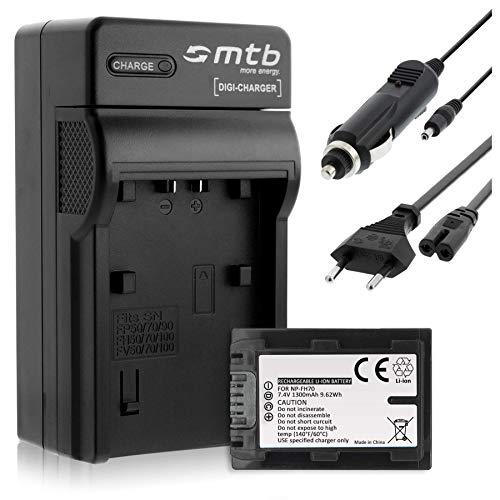 Batteria + Caricabatteria (Auto/Corrente) per Sony NP-FH70 / DCR-SX50, SX60... / DCR-HC... / DCR-DVD... - vedi lista!