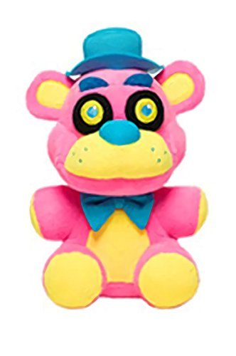 Five Nights At Freddys - Freddy Fazbear Neon Blacklight Plush - Pink - 10cm 4""