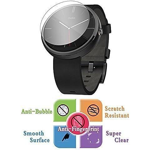 9H Protector de Pantalla Cristal Vidrio Templado Transparente para Motorola MOTO 360 Reloj Inteligente