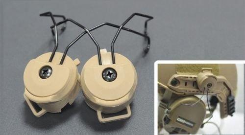 Airsoft táctico militar Sordin rápido Auriculares DE casco adaptador 3 colores DE...
