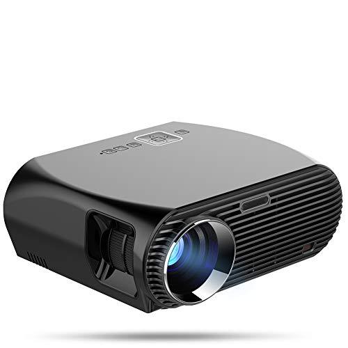 GMACCE Proyector, 3600 lúmenes proyector de vídeo portátil 1280x800 proyectores HD-200 Home Theater Movie Projector Support Smartphones portátiles Mac Educación de Negocios