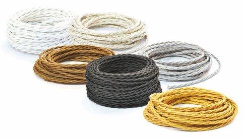 Cavo filo a treccia prolunga flessibile intrecciato per installazioni a vista - VARI COLORI - Arancio