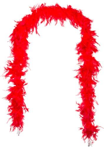 Brandsseller - Federboa Federschal Federstola Schal Karneval Fasching Burlesque Kostüme Zubehör - Rot (Rote Kostüme Zubehör)