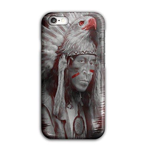 Wellcoda Einheimische amerikanisch Fantasie Hülle für iPhone 7 Adler Rutschfeste Hülle - Slim Fit, komfortabler Griff, Schutzhülle