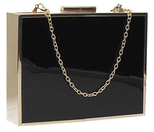 SwankySwans-Kate Box brevetto frizione, nero (Black (Black)), Taglia unica