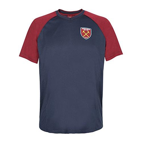 West Ham United FC - Camiseta Oficial de Entrenamiento - para Hombre -  Poliéster - Azul da3c58d69e892