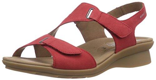 Mephisto - PARIS BUCKSOFT 6975 STRAWBERRY, Sandali di moda da donna, rosso (strawberry), 41