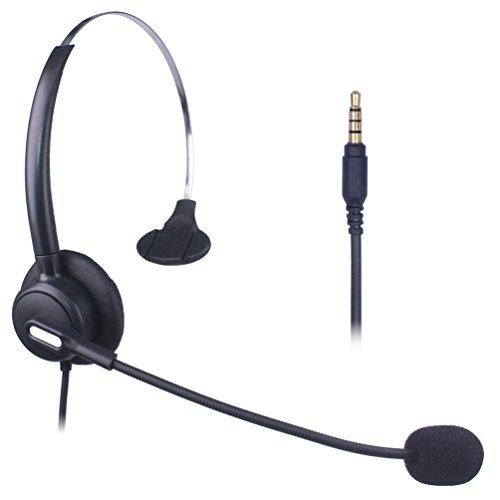 Xintronics Handy Headset Mono, Noise Cancelling Mikrofon, 3,5mm Klinke Kopfhörer für iPhone Samsung Huawei Blackberry HTC ZTE LG Mobiltelefon und Smartphones(X103-35M1)