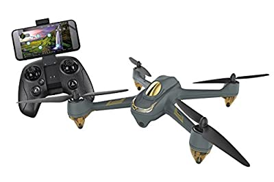 XciteRC H501 M + HT009 Hubsan X4 FPV Brushless Quadcopter RTF Drone with App Control, 720p Camera, GPS, Follow Me, Waypoints, Battery, Charger and Remote Control, Grey by Hubsan