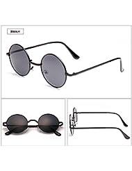 LXKMTYJ Retrò personalizzato Round di occhiali da sole e Prince Edward Road Occhiali da sole viso tondo occhiali occhiali di pilotaggio, Kim Box verde Film