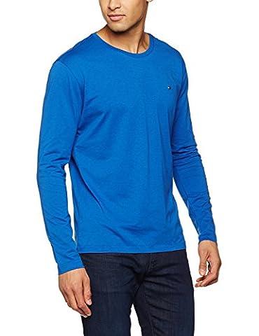 Tommy Hilfiger, Herren Langarmshirt Organic Cotton Cn, Blau (True Blue-PT 494), Medium (Herstellergröße: MD)