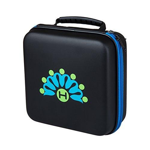 Homeself Hard Shell Wasserdicht 16 Flaschen Essential Oil Transportbox mit Karabiner, Schaumstoffeinsatz - Tragegriff - Perfekt für dōTERRA und Young Living Öle (Blau) (Essential Portfolio)