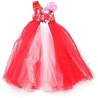 LUOEM Disfraz de Princesa de Hadas para niñas con Vestido de Princesa Disfraz de Princesa de Arco Iris para Disfraces de tutú para niñas Disfraz de Cumple con Halloween para Fiestas de cumpleaños 5Y