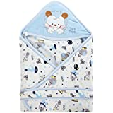 Mee Mee Baby Wrapper With Hood, Circus Print, Blue