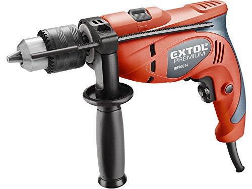 Extol Premium Schlagbohrmaschine 550 W, Tiefenanschlag, Zusatzhandgriff, Bohrleistung Durchmesser Holz 25 mm, Beton 13 mm, Metall 13 mm, 1 Stück, rot, 8890014 (25 Pistolengriff)