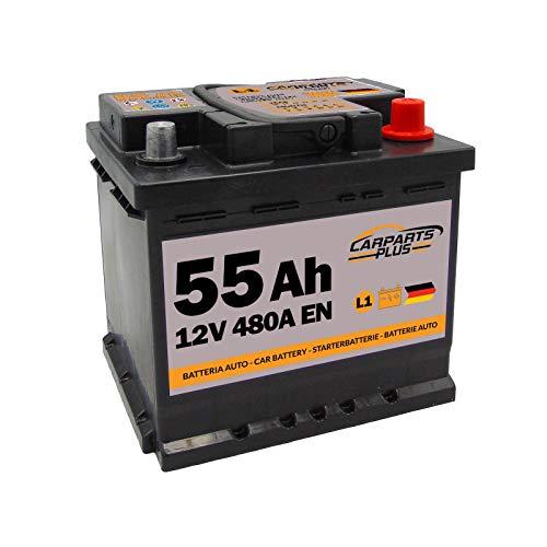 CARPARTS PLUS L155CARPARTS Batteria 55ah 480A 12V Polo DX