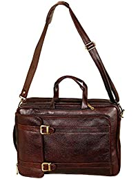 1f43579d2 Leather Villa Leather LV Backpack Bag Cum Office Bag for Men |15.6'' Laptop