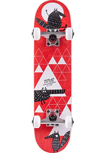 TITUS Skateboards-Complete Wolf Micro Kids, red, 6.5