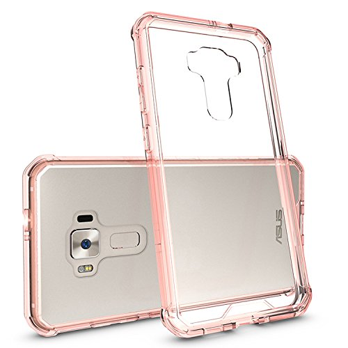 iPhone 6s/6 Case,SUNWAY Invisible [Slim Fit] Acrylic Clear Soft TPU Protective Crystal Gel Rubber [Scratch Resistant] Silicone Dual,Bumper Jelly Case for Apple iPhone 6/6s(4.7 Inch)-Black Pink
