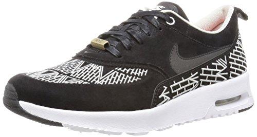 Nike Wmns Air Max Thea Lotc Qs, Chaussures de Sport Femme Noir - Negro (Black / Black-White)