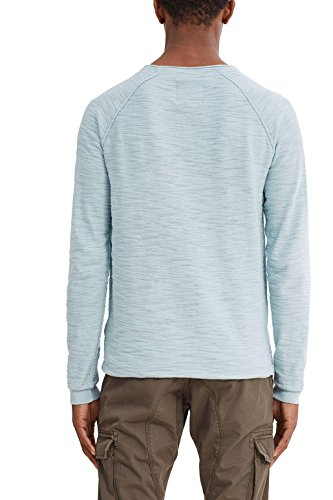 edc by Esprit 047cc2i002, Pull Homme Bleu (Light Turquoise)