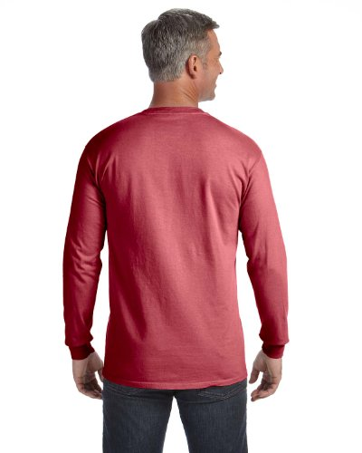 Treask 6.1 Oz. Long-Sleeve Pocket T-Shirt (C4410) 0Crimson