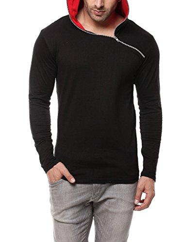 Gritstones-BlackRed-Full-Sleeve-Hooded-T-Shirt-GSFSHDZIP1291BLKRD