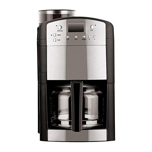 Kaffee-Vollautomaten DOOST Amerikanische Espressomaschine für Verbraucher und gewerbliche Zwecke, automatische Filterkaffee- und Cappuccino-Latte-Maschine, Glas, Filter, Punktkarte, 1000 W, schwarz