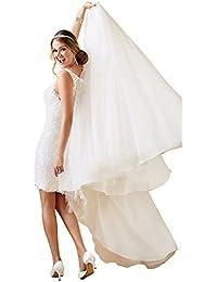 Tianshikeer Hochzeitskleid 2 Teilig Spitze Tüll Lang Sexy Brautkleid Zweiteilig
