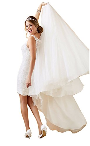 Hochzeitskleid zweiteilig mit abnehmbaren Rock