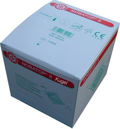 NOBATOP 8 Vliesstoffkompressen, 4-fach,5 x 5 cm, steril (60 x 2 Stck.)
